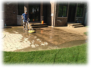 Paver Patio Washing