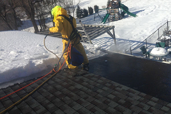 Northern Powerwashing Roof Ice Dam Removal