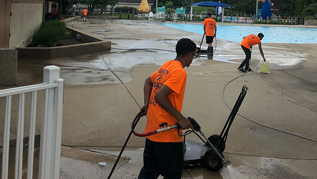 Commercial Flat Work Power Washing